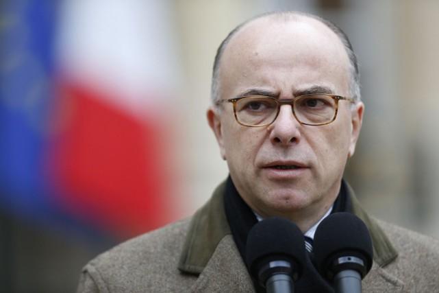 Le ministre français de l'Intérieur, Bernard Cazeneuve.... (Photo Thomas Samson, archives AFP)