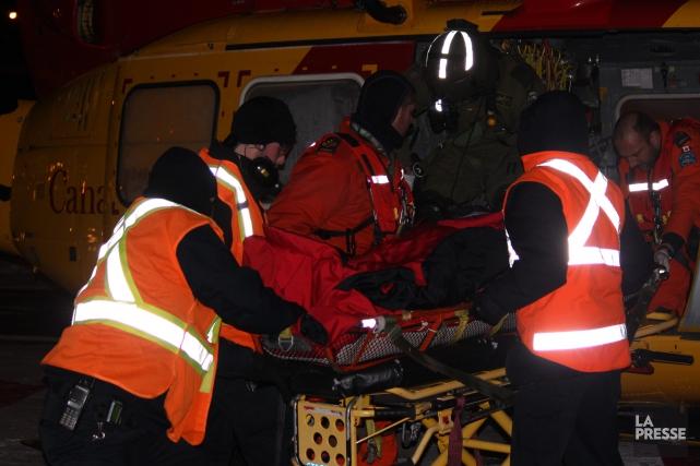 Le blessé a été transporté à l'hôpital de... ((Photo Progrès-Dimanche, Julien Renaud))