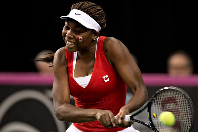 Françoise Abanda, 230e joueuse mondiale, représentait le Canada... (PHOTO PC)