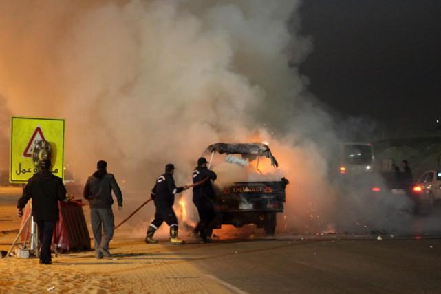 «Il y avait une voiture de police en... (Photo: AFP)