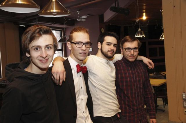 Le quatuor granbyen formé de Simon Lavigne, d'Antoine... (photo Julie Catudal)