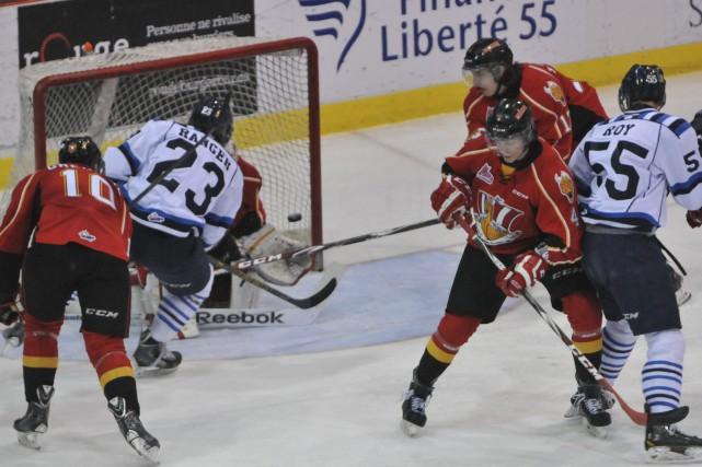 Alexandre Ranger a marqué le cinquième but des... ((Photo Michel Tremblay))