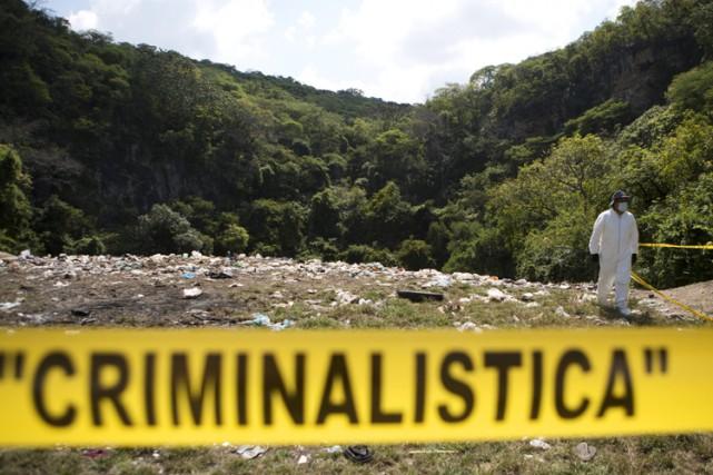 Parmi les échantillons recueillis par les enquêteurs mexicains,... (Photo: AP)