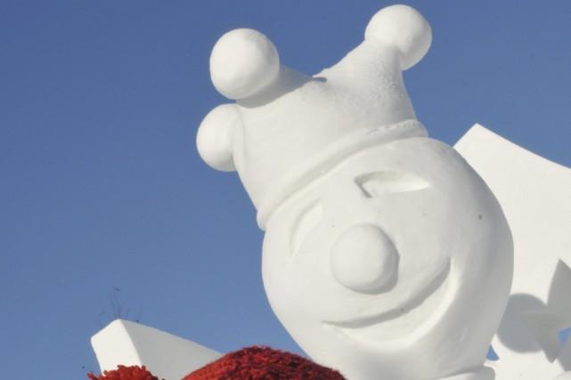 La sculpture «Diable laissez-moi sortir», du capitaine Louis-Gabriel... ((Photo Michel Tremblay))