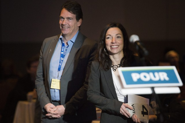 Deux des candidats à la direction du Parti... (Photo: PC)