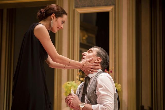 En Alceste, François Papineau livre une performance solide... (Photo Jean-François Hamelin, fournie par le Rideau Vert)