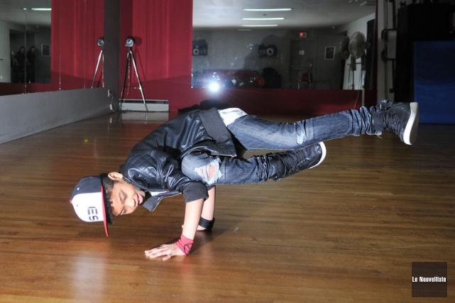 Le jeune danseur de hip-hop, Rafaël Adontan, s'est... (Photo: Émilie O'Connor, Le Nouvelliste)