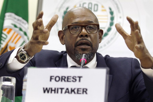 L'acteur Forest Whitaker en conférence de presse à... (PHOTO THOMAS MUKOYA, REUTERS)