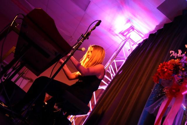 Valérie Lahaie a offert un concert intime devant... (Photo courtoisie Normand Champagne)