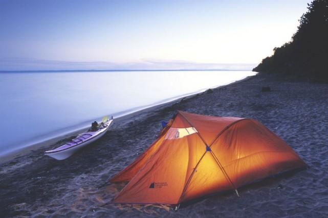 Le camping Les Castors dans le parc national... (Photo fournie par la SÉPAQ)