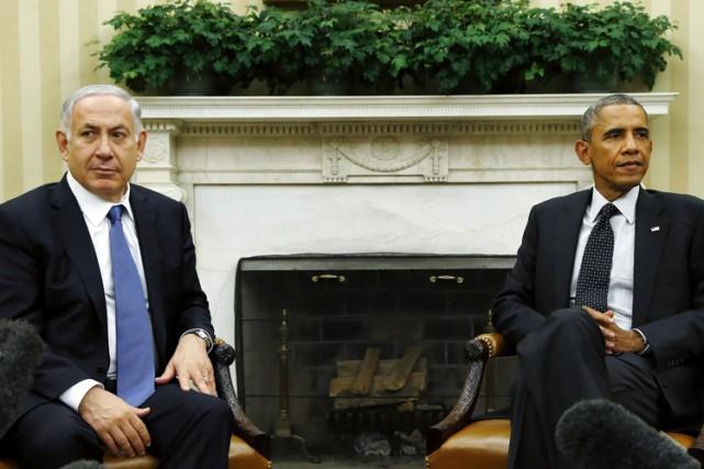 Benyamin Nétanyahou et Barack Obama lors d'une rencontre... (Photo: Reuters)