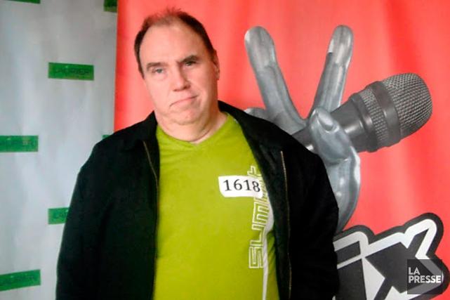 Pierre Gaudreault aux pré-auditions de La voix en... (Photo tirée de Google+)