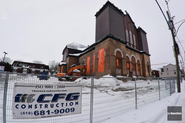 Le démantèlement de l'église Saint-Philippe devrait commencer la... (Photo: François Gervais, Le Nouvelliste)