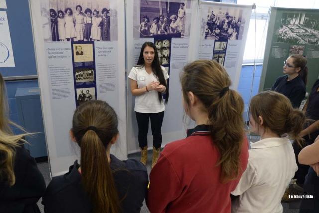 Le grand public pourra visiter l'exposition Anne Frank,... (Photo: Sylvain Mayer, Le Nouvelliste)