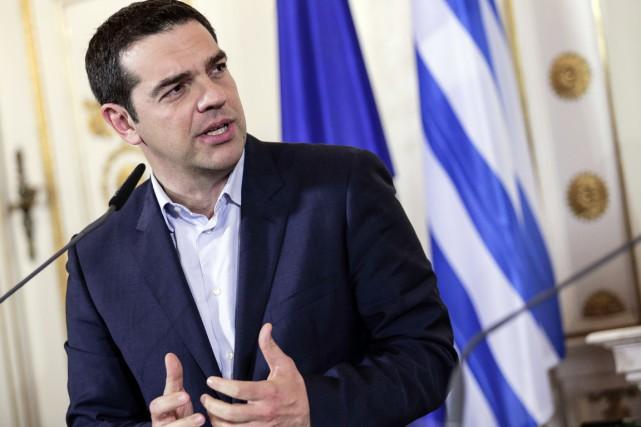 Alexis Tsipras a déclaré dimanche que la Grèce... (PHOTO PATRICK DOMINGO, ARCHIVES AFP)