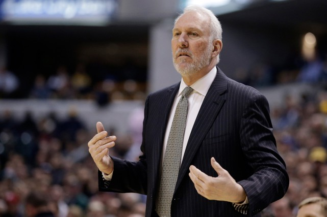 L'entraîneur des Spurs de San Antonio, Gregg Popovich.... (Photo Darron Cummings, AP)