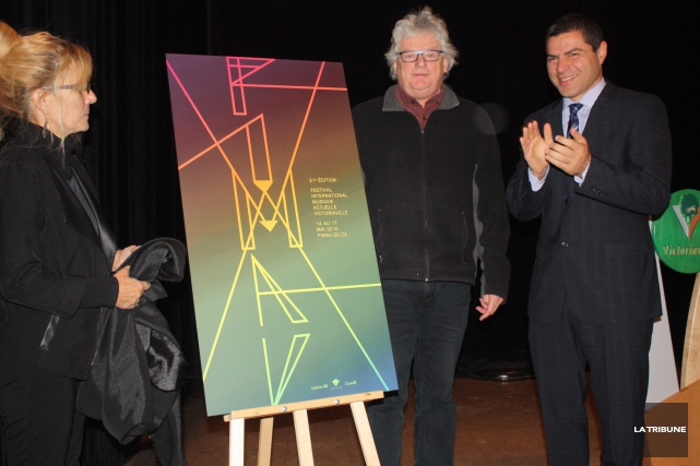 Le maire de Victoriaville, Alain Rayes, la directeur... (La Tribune, Yanick Poisson)