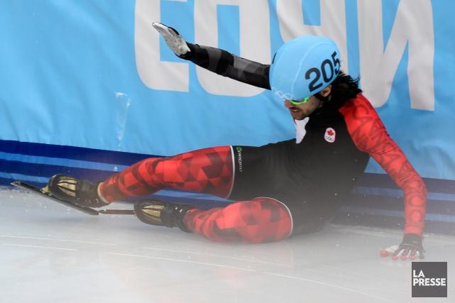 Charles Hamelin avait été victime de chutes au... (Photo Bernard Brault, La Presse)