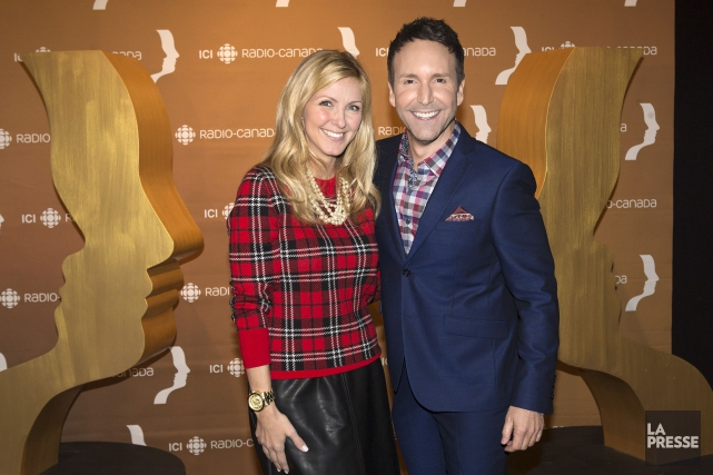 Véronique Cloutier et Éric Salvail... (PHOTO ROBERT SKINNER, LA PRESSE)