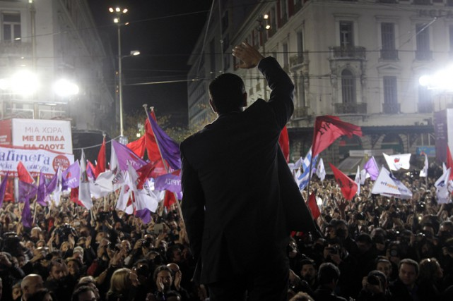 Plus tôt au mois de janvier, les Grecs... (Photo: Reuters)