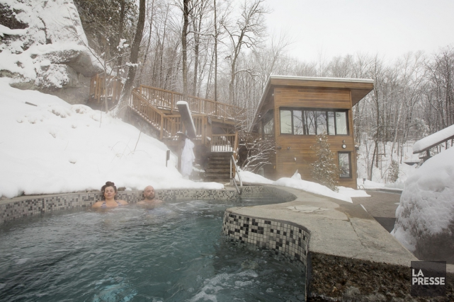 Aucun des spas visités n'est aussi bien intégré... (PHOTO ALAIN ROBERGE, LA PRESSE)