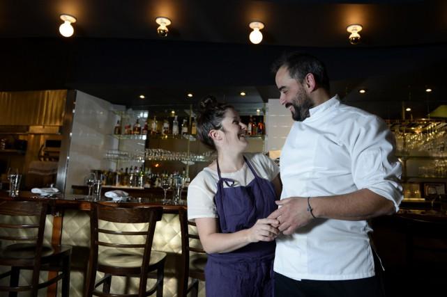 Julien Joré et Stéphanie Labelle se sont rencontrés... (Photo Charles Laberge, collaboration spéciale)