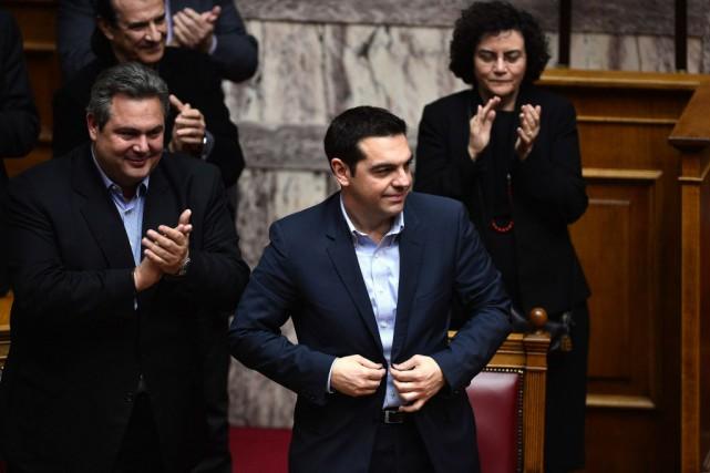 Le premier ministre Alexis Tsipras.... (Photo Louisa Gouliamaki, AFP)