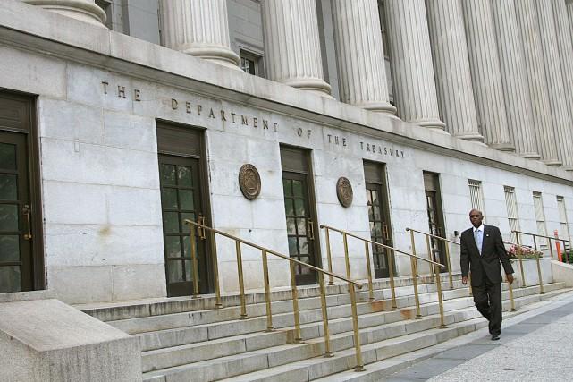 Le déficit budgétaire des États-Unis s'est nettement aggravé en janvier mais à... (PHOTO ARCHIVES AFP)