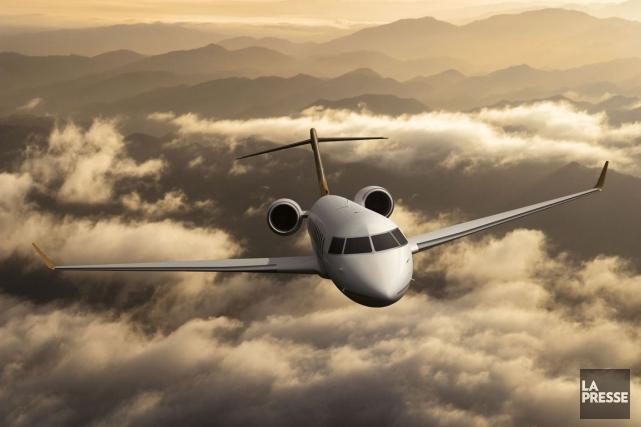 Un Global 8000 de Bombardier.... (Photo fournie par Bombardier)