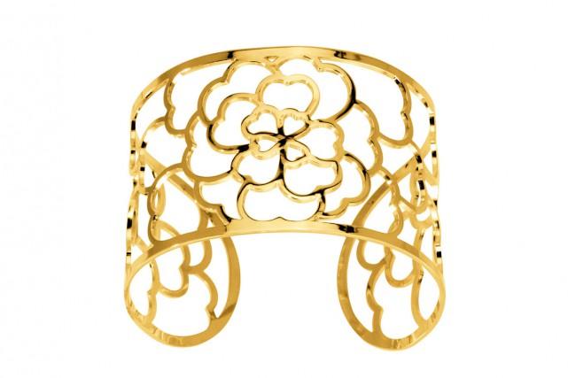 Bracelet manchette plaqué or, 216 $...