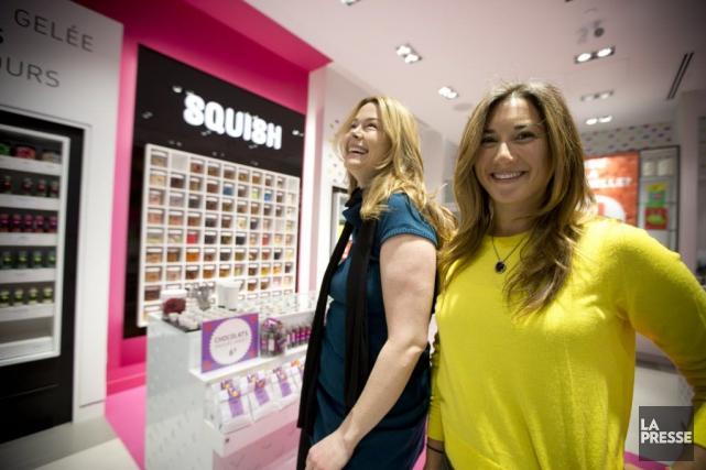 Julie Laurin et la propriétaire et fondatrice, Sarah... (PHOTO FRANCOIS ROY, LA PRESSE)