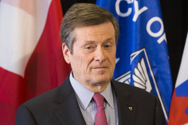 Le maire de Toronto, John Tory.... (Photo Mark Blinch, Archives Reuters)