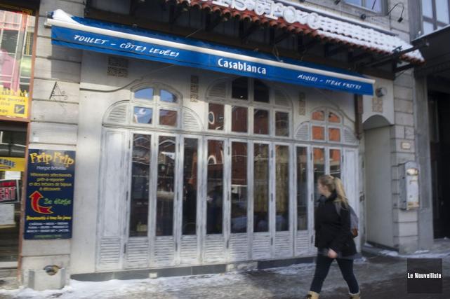 Le restaurant Casablanca est un des nombreux commerces... (Photo: Stéphane Lessard, Le Nouvelliste)