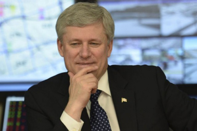 Le premier ministre du Canada Stephen Harper... (Archives La Presse Canadienne)