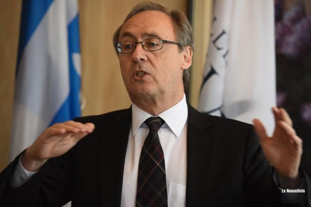 Claude Hill, président de la Fondation des Anciens... (Photo: François Gervais, Le Nouvelliste)
