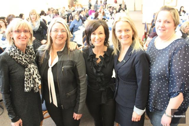La conférencière Josée Boudreault (au centre) a livré... (Photo: Audrey Tremblay, Le Nouvelliste)