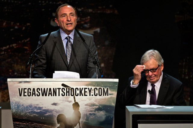 La campagne «VegasWantsHockey» a été lancée mardi, en... (Photo AP)