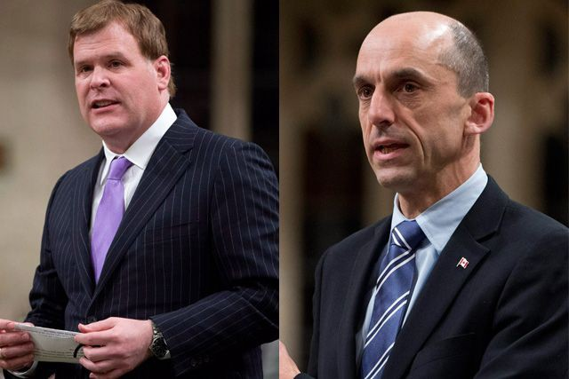 John Baird et Steven Blaney... (PHOTOS LA PRESSE CANADIENNE)