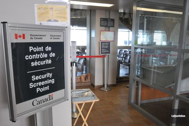 Poste douanier à l'aéroport de Bagotville.... ((Archives Le Quotidien))