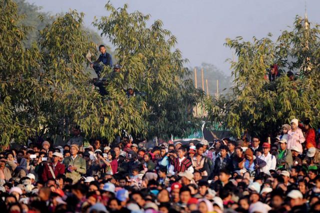 Les autorités avaient annoncé dans un premier temps... (PHOTO YE AUNG THU, AFP)