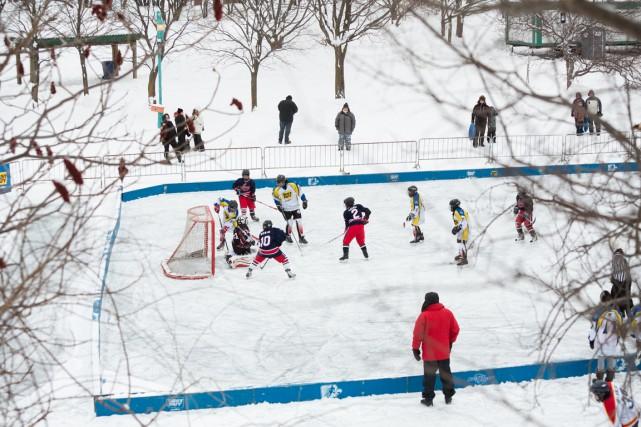 Au Québec les enfants jouent sur de petites... (Photo Ulysse Lemerise, collaboration spéciale)