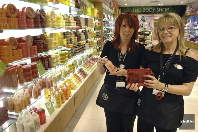 The Body Shop a réalisé en 2014 un... (Photo Michel Tremblay, archives Le Quotidien)