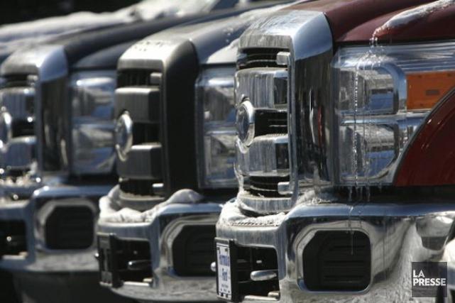 Les ventes de véhicules automobiles ont gagné 9... (PHOTO ARCHIVES ASSOCIATED PRESS)