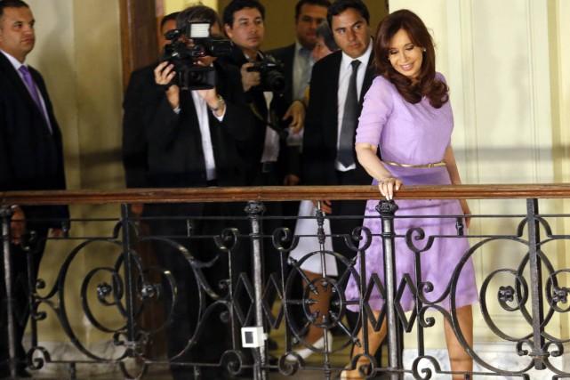 La présidente argentine Cristina Kirchner, à Buenos Aires,... (PHOTO ENRIQUE MARCARIAN, ARCHIVES REUTERS)