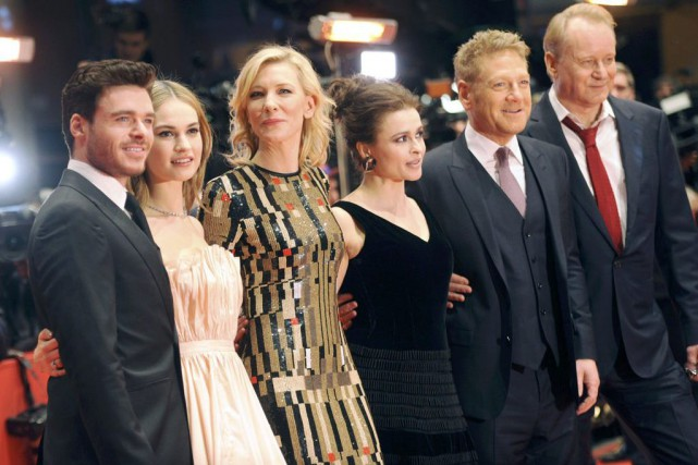 Richard Madden, Lily James, Cate Blanchett, Helena Bonham... (PHOTO STEFANIE LOOS, REUTERS)