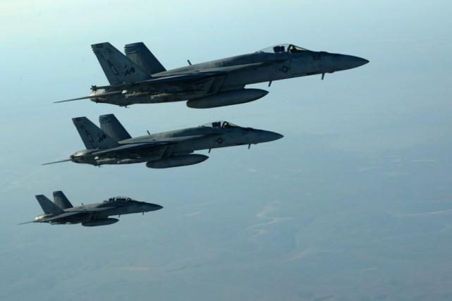 «Les Américains sont vraiment inquiets des militants islamistes... (PHOTO US Air Force, AFP)