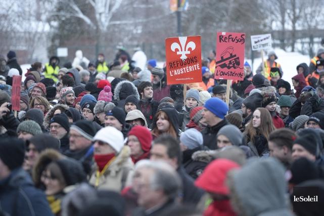 S'opposer à l'austérité, c'est s'imaginer que le Québec... (Photo Jean-Marie Villeneuve, Le Soleil)