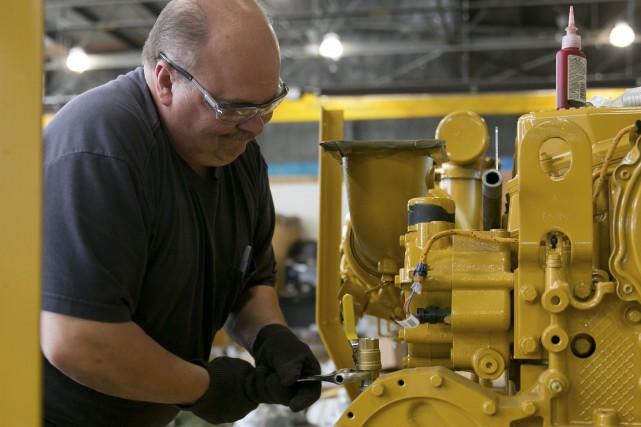 La production industrielle aux États-Unis a connu un très léger rebond en... (PHOTO ARCHIVES BLOOMBERG)