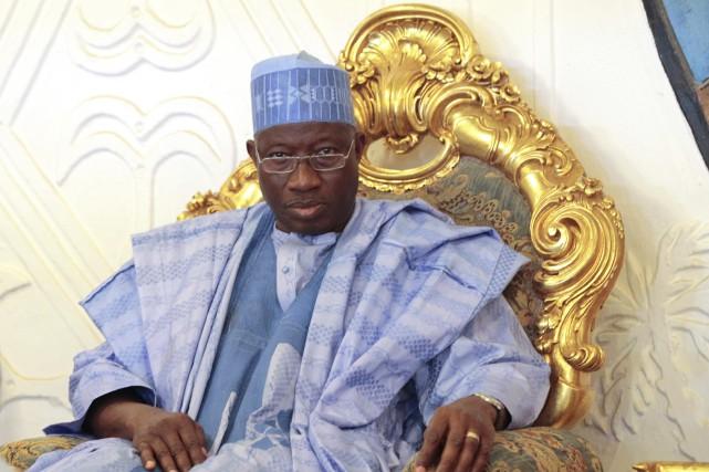 L'ex-président nigérian Goodluck Jonathan, a fait voter en... (Archives AFP, Afolabi Sotunde)