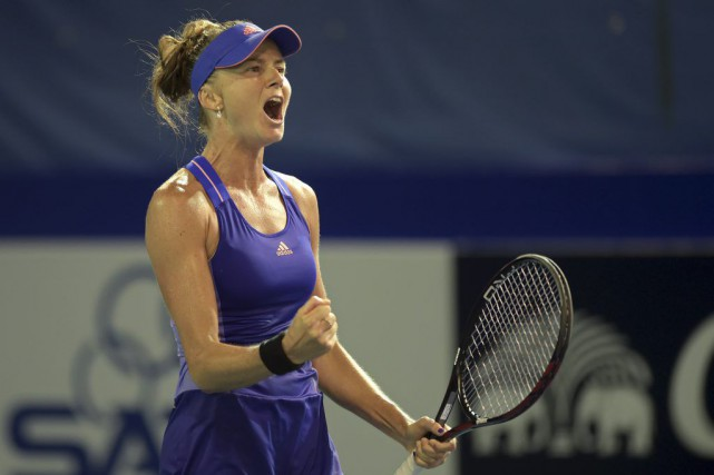 Daniela Hantuchova... (PHOTO PORNCHAI KITTIWONGSAKUL, AFP)